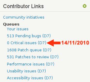 Drupal 7 - Zero bug critici