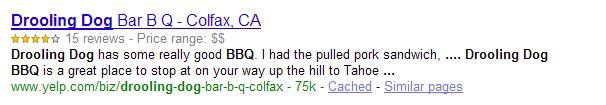 Esempio rich-snipplet su Google