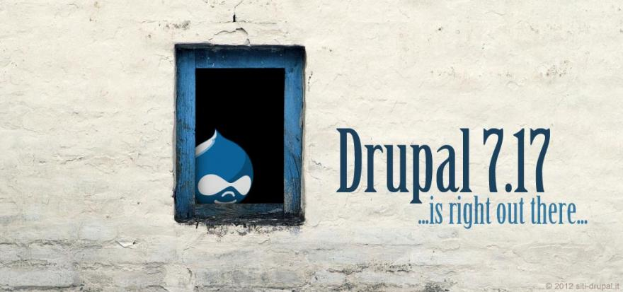 Nuova versione Drupal 7.17