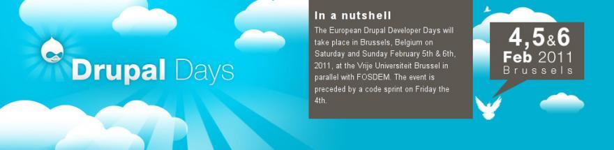 Drupal Developer Days a Bruxelles (4-6 Febbraio 2011)