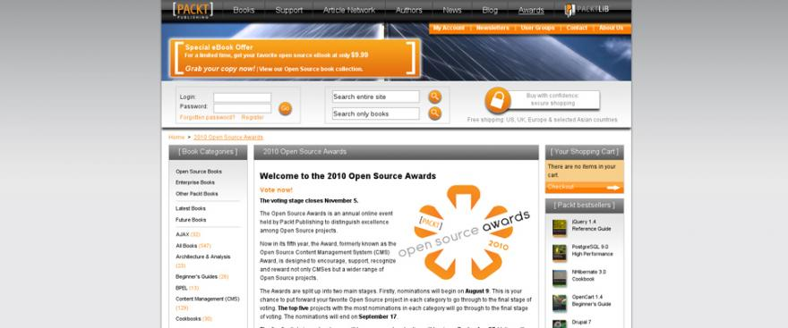 Sostieni Drupal, votalo nel 2010 Open Source Awards