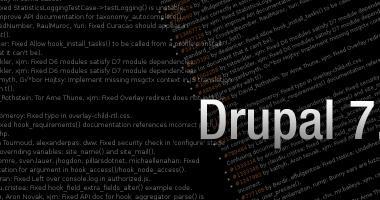 Lo sviluppo di Drupal procede con Drupal 7.10