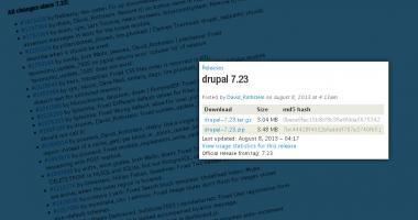 Drupal 7.23 - Changelog