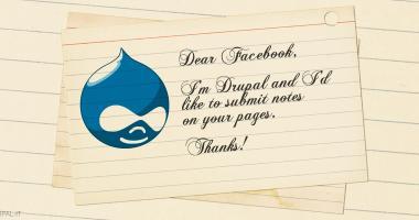 Posizionamento Drupal: creare note Facebook da Drupal